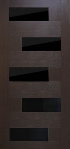 Домино с черным стеклом (венге)