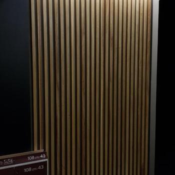 декоративные рейки в спальне